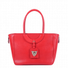 Red Leather Bag with Zip