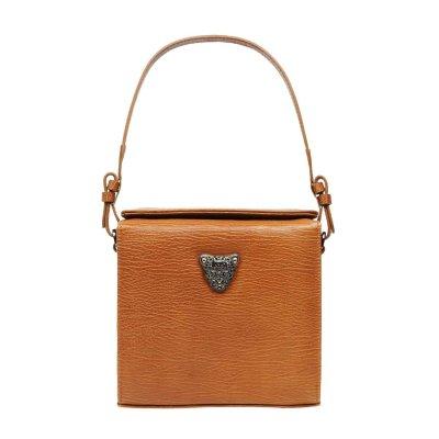 Tan Brown Micro Boxy Bag