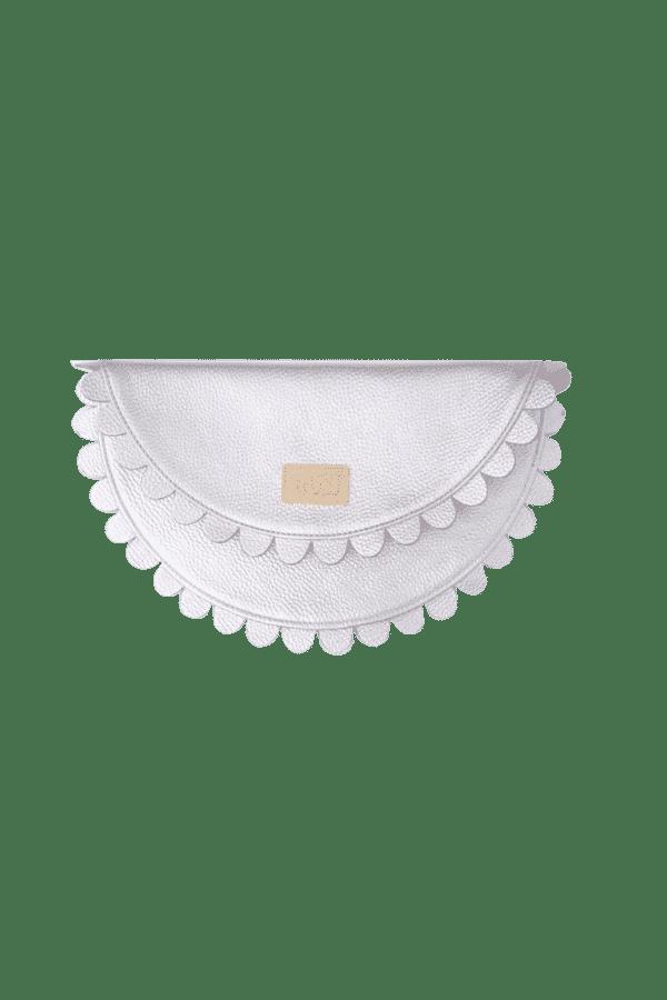 Silver Daisy Clutch 1