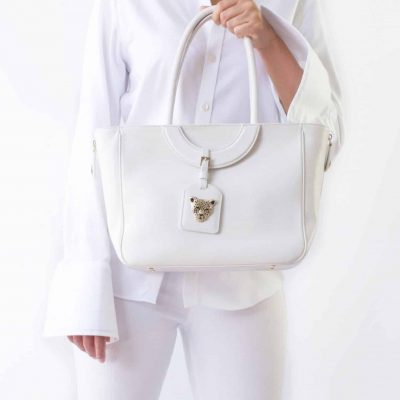 Mezzaluna Tote Bag in White