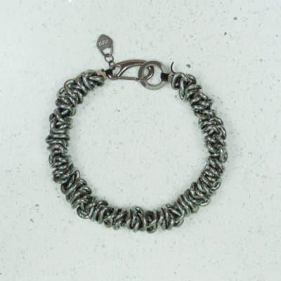 silver black necklace