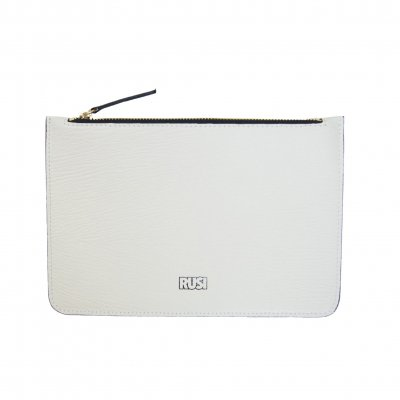 Elegant Leather Pouch in White