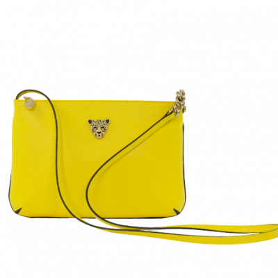 Yellow Crossbody bag w gold logo