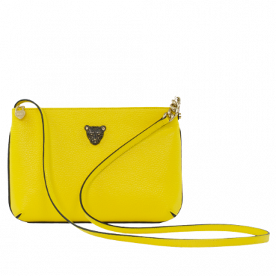 Yellow crossbody leather bag