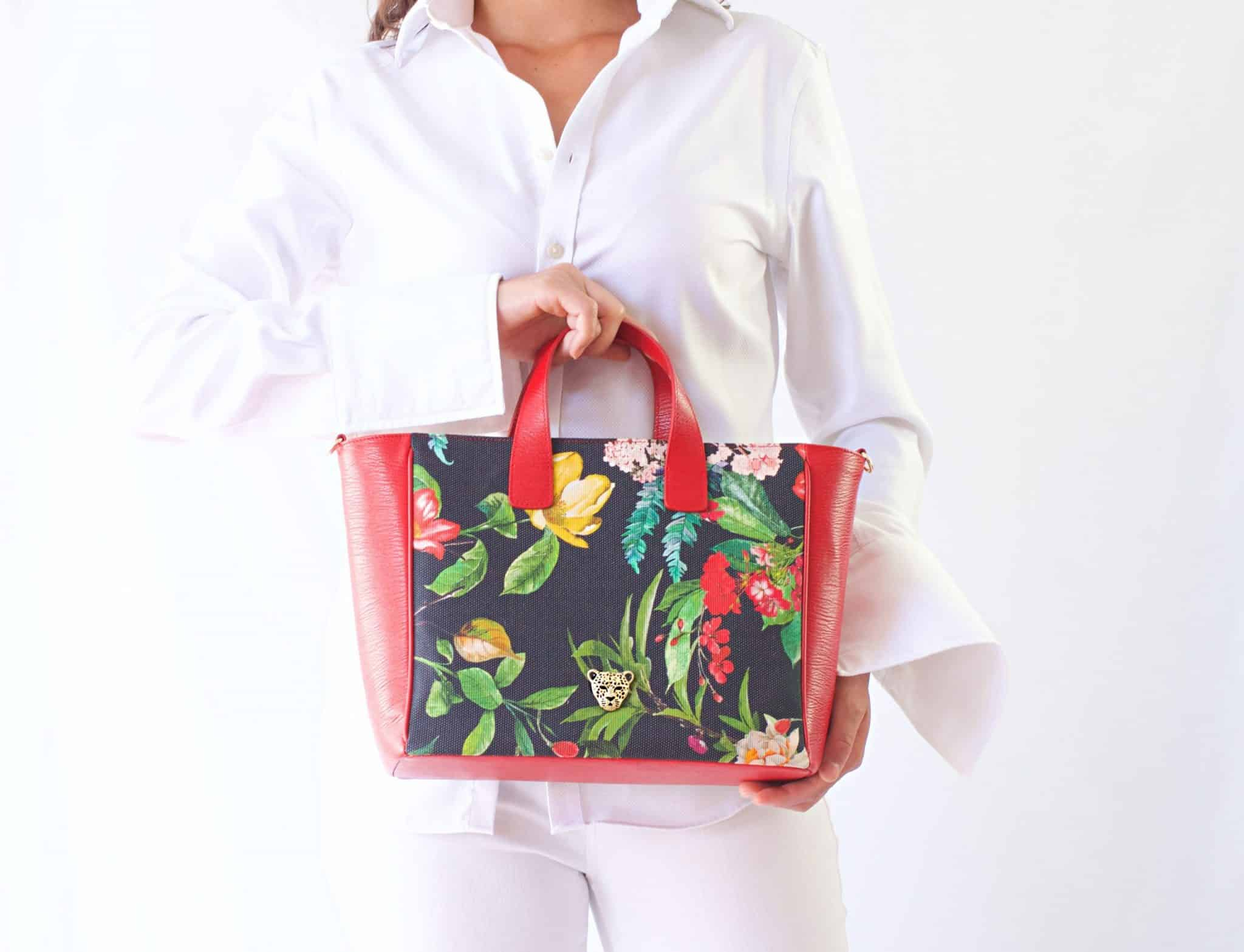 Canvas and leather Bag by RusiDesigns.