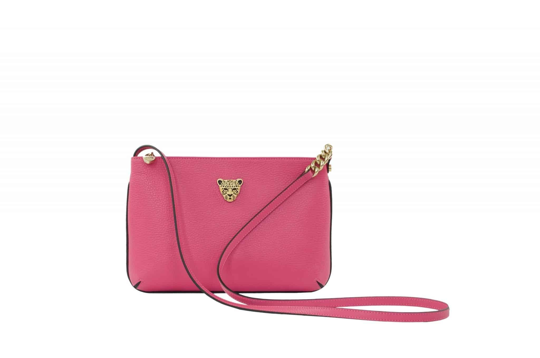 Star 2.0 Cross Body Bag/ Pink with Gold Logo