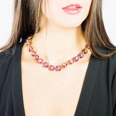 Purple ANNA necklace by RusiDesigns