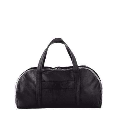Black leather Travel Weekend Bag