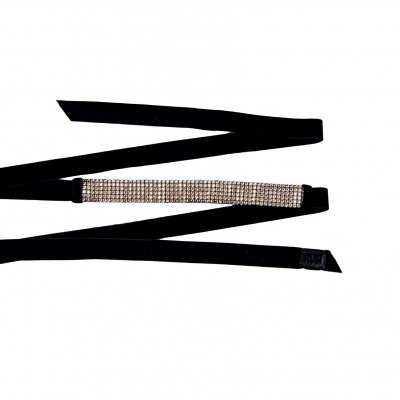 Velvet Crystal Embellished Belt