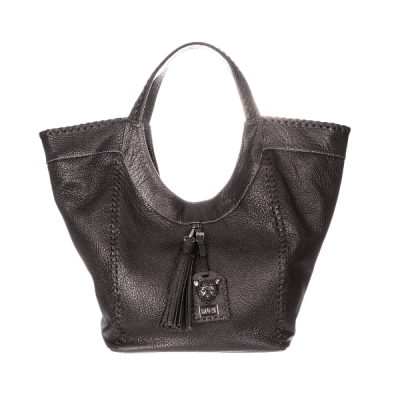 Large Black Leather Hobo Slouchy Bag Sara Bag
