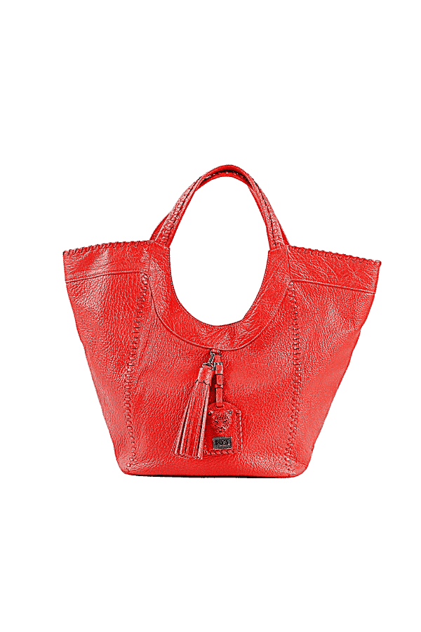 Red Leather Hobo Bag Sara Bag