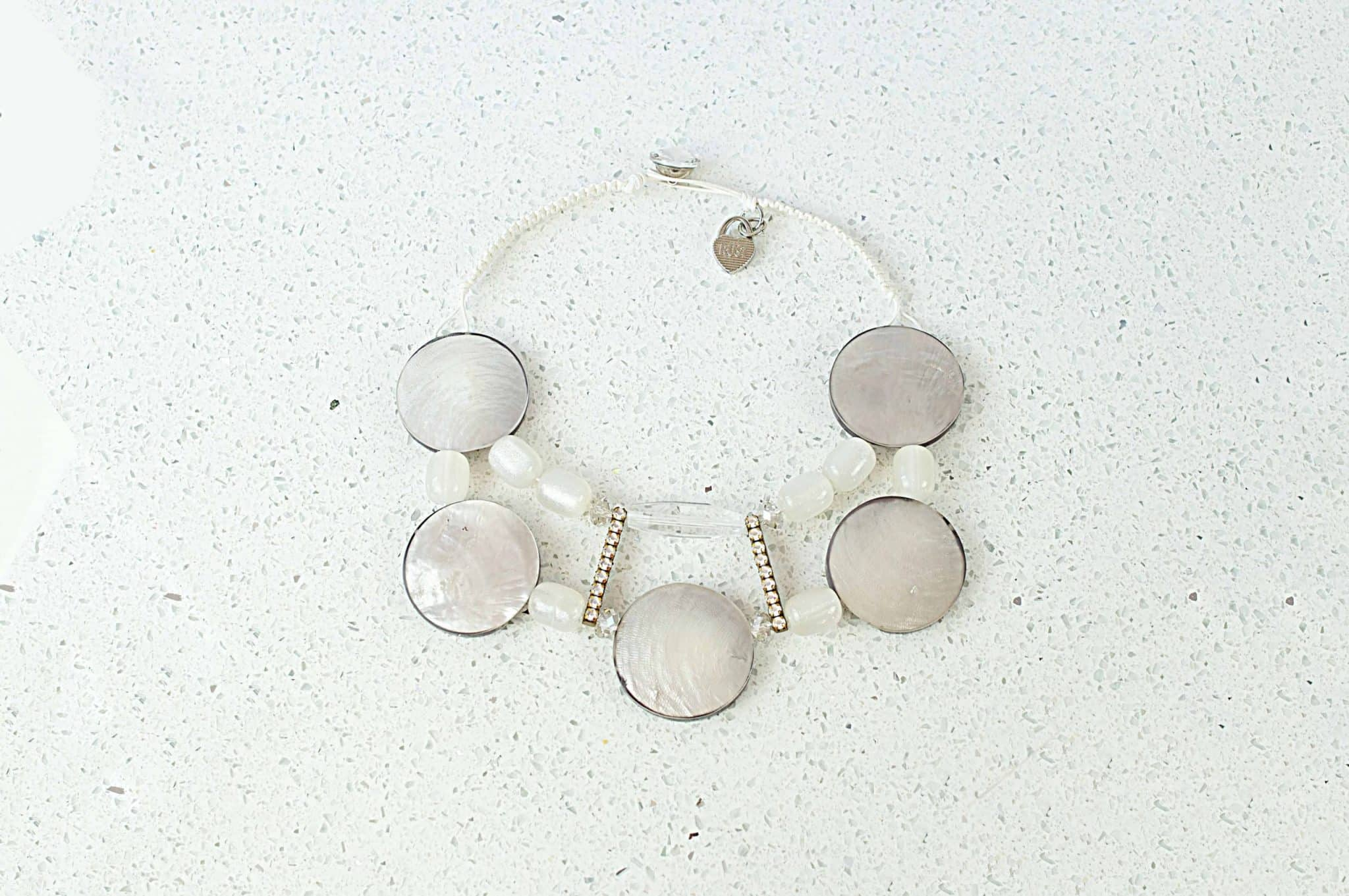White Shell Pearl Necklace