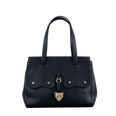 Black Soft Goat Leather Bag Designer