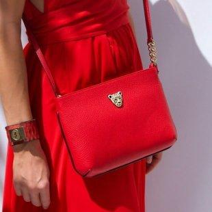 aa Cross Body Red Dress