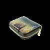 Blue Brown Patent wallet
