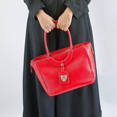 Red Mezzaluna Tote Bag