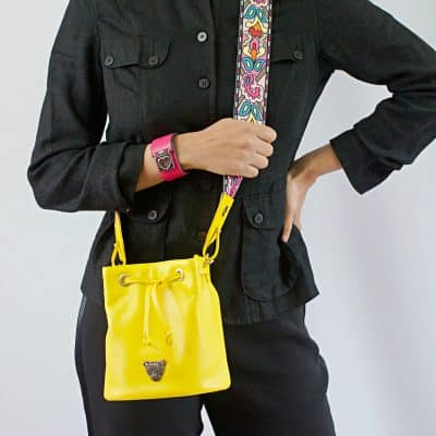 Yellow Bucket Bag Model