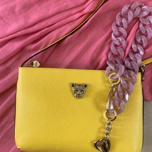 Yellow pink bag